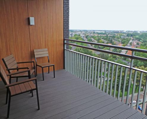 Composiet op balkon